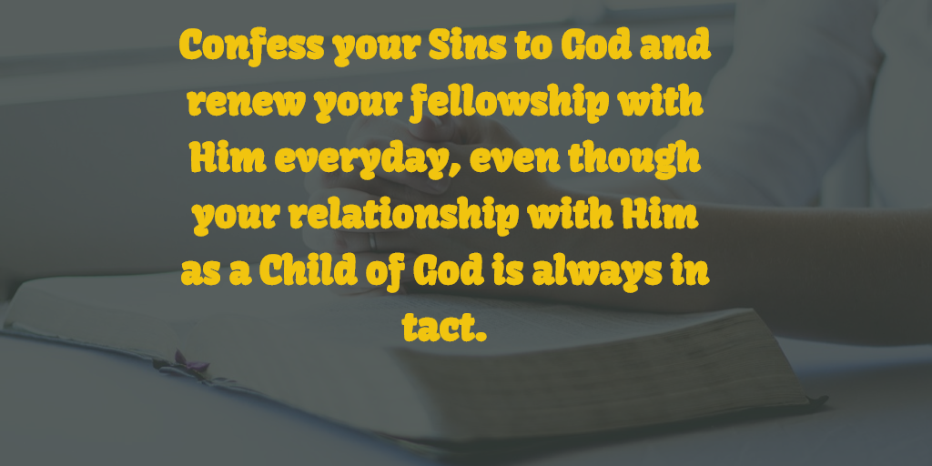 confessing sins to God